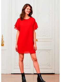 Vestido rojo con volantes Art love