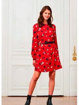 Vestido rojo floral Art love