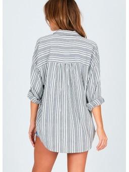 Camisa de rayas gris Amuse Society