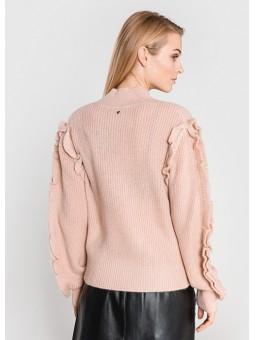 Jersey rosa con volantes Silvian Heach