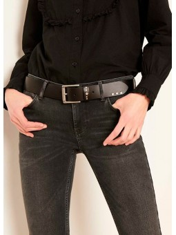 Cinturón de piel negro REIKO