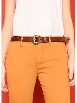 Cinturón de piel marrón REIKO