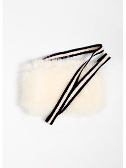 Bolso de pelo blanco Bellerose