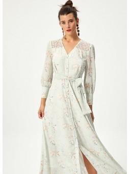 ALELI Vestido floral detalle espalda – Mioh