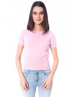 Jersey de manga corta rosa – Silvian Heach