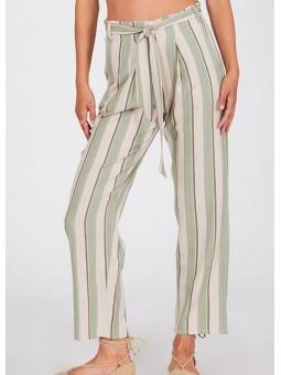 Pantalón rayas verde – Amuse Society