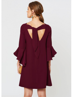 Vestido Juno berenjena – La Croixé