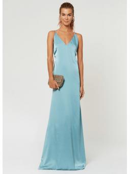 Vestido Kiara azul – La Croixé