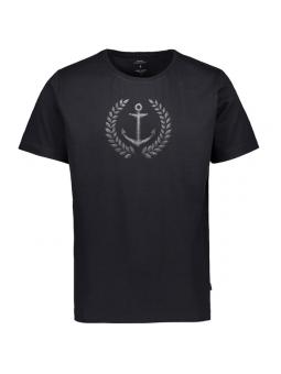 Camiseta negra de chico con ancla Makia