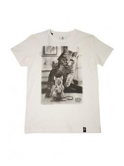 Camiseta Gato Dirty Velvet