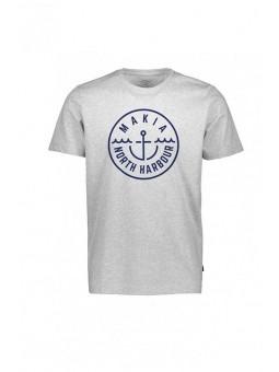 Camiseta gris ancla Makia