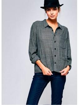 Camisa gris con cuadros traseros Bellerose