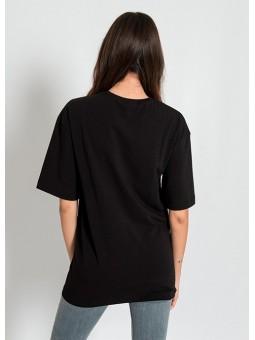 Camiseta negra Mona Lisa Silvian Heach