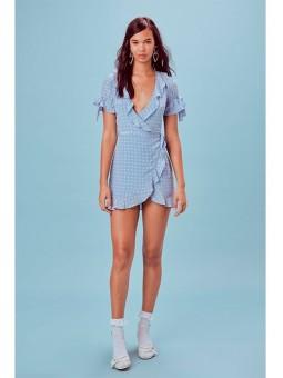 Vestido cruzado azul For love and Lemons