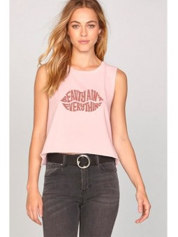 Camiseta rosa de tirantes Amuse Society