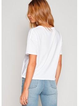 Camiseta blanca Beach de Amuse Society