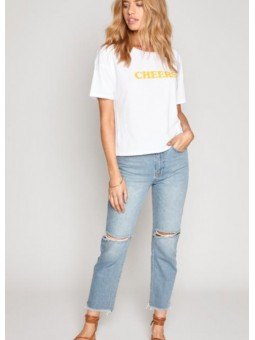 Camiseta blanca Cheers de Amuse Society