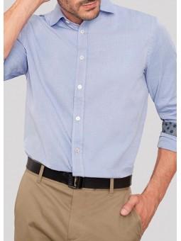 Camisa azul con rayas finas Koike Barcelona