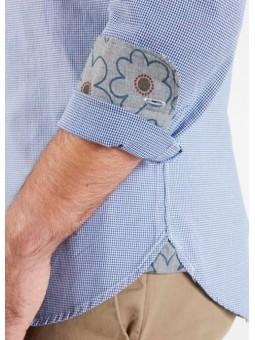 Camisa azul pata de gallo Koike Barcelona