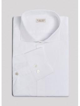 Camisa blanca con margarita en el puño Koike Barcelona