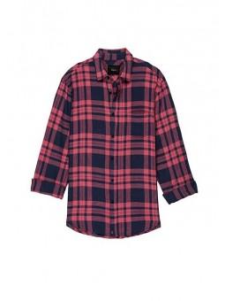 Camisa de cuadros rosas y azules Rails