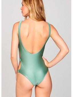 Bañador verde metalizado Amuse Society