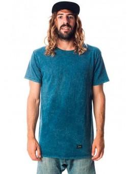 Camiseta azul efecto lavado de Melou