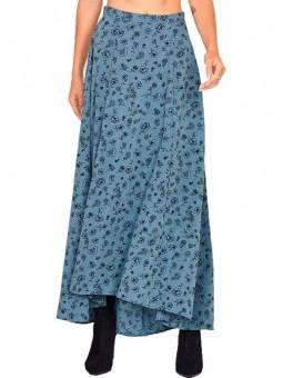 Falda larga azul con flores Amuse Society