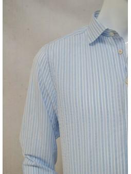 Camisa rayas azules y blancas Koike Barcelona