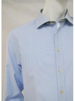 Camisa rayas horizontales azul Koike Barcelona