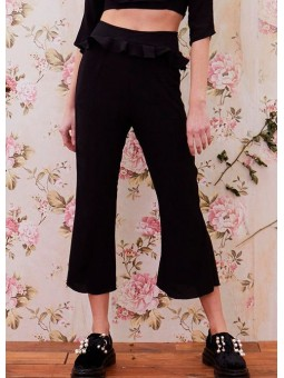 Pantalón poppy negro de cintura alta For Love & Lemons