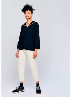 Blusa marinera negra Bellerose
