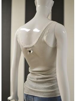 Camiseta de tirante plata Silvian Heach