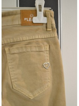 Pantalón de rayas beige PLEASE