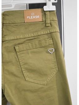 Pantalón verde PLEASE